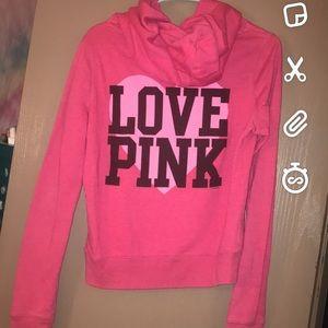 Tops - Vs pink hoodie